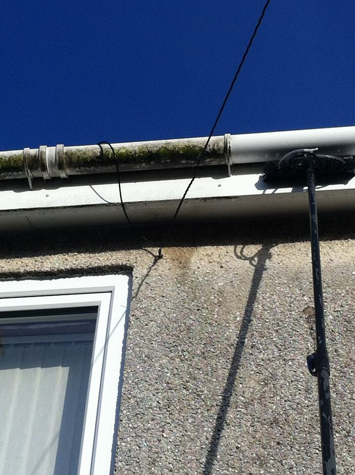 partially cleaned gutter
